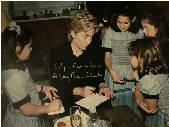 Hillay Clinton with Lauren Chesley Family