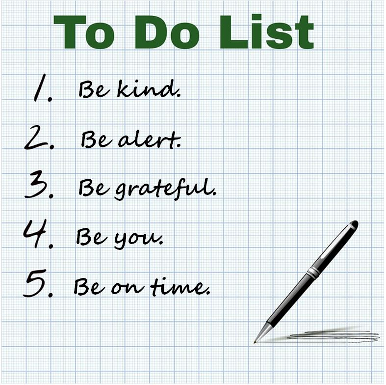To Do Don't Do Lists