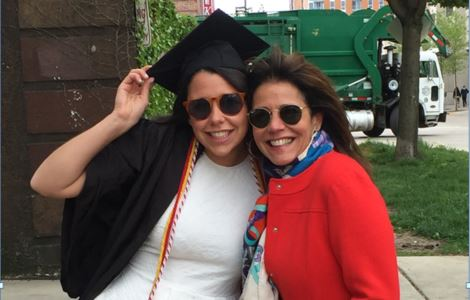 Lauren Chesley and Lilly U of Wisc Graduation