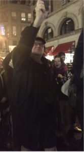 Michael Moore Protest NYC