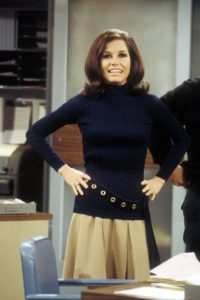 Mary Richards Black Turtleneck Pleated Skirt